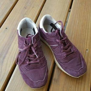 Maroon suede sneakers 8.5